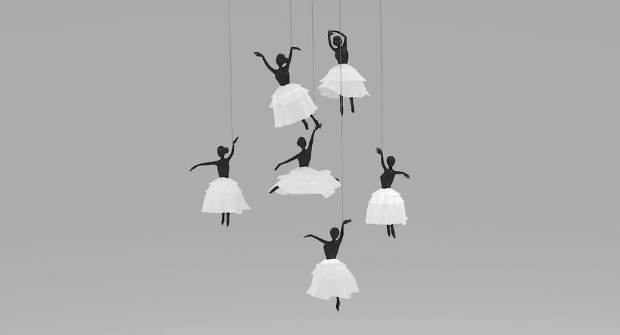 Decoración colgante de ballet royalty-free modelo 3d - Preview no. 4