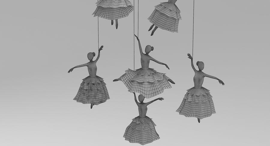 Decoración colgante de ballet royalty-free modelo 3d - Preview no. 8