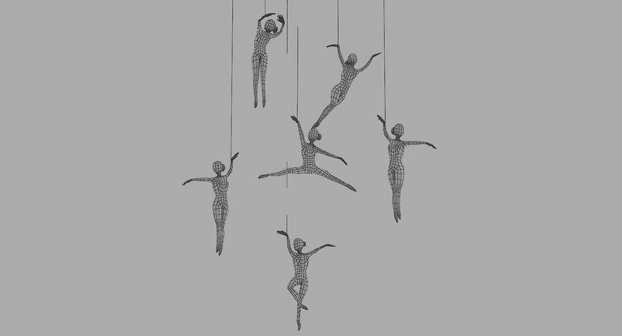 Decoración colgante de ballet royalty-free modelo 3d - Preview no. 9