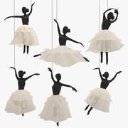 Decoración colgante de ballet modelo 3d