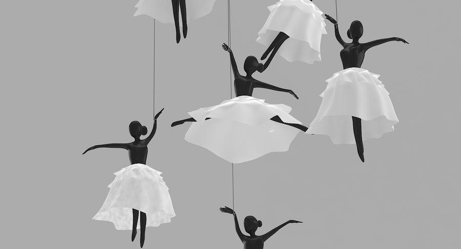 Decoración colgante de ballet royalty-free modelo 3d - Preview no. 5