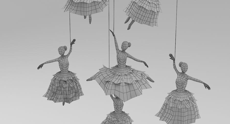 Decoración colgante de ballet royalty-free modelo 3d - Preview no. 7