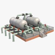 Silos przemysłowy 7 3d model