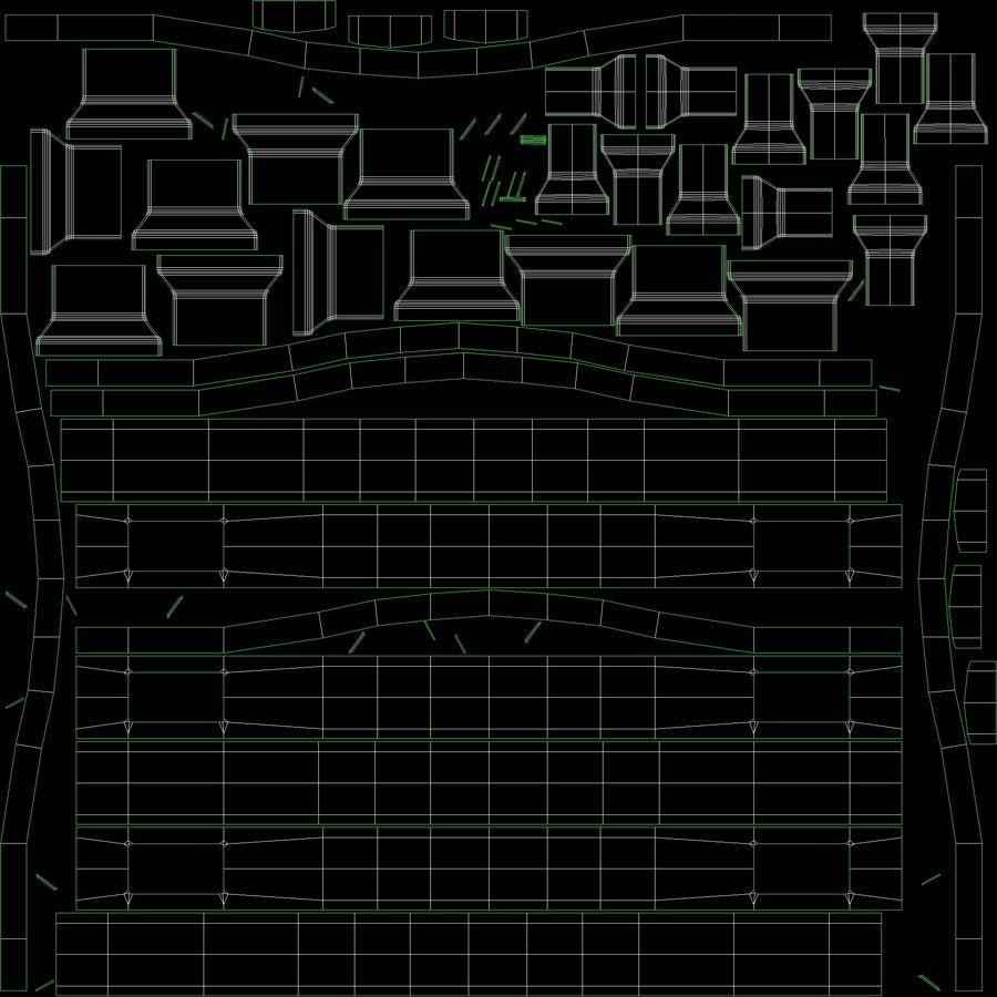 침대 탁자 royalty-free 3d model - Preview no. 18