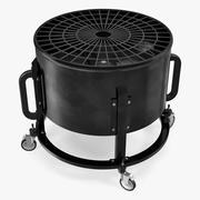 Ventilateur de sol industriel 3d model