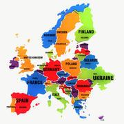 Mapa Europy 3d model