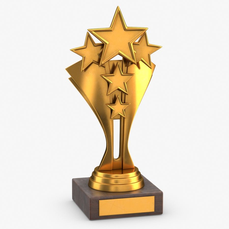 Gold Trophy 5 royalty-free 3d model - Preview no. 1