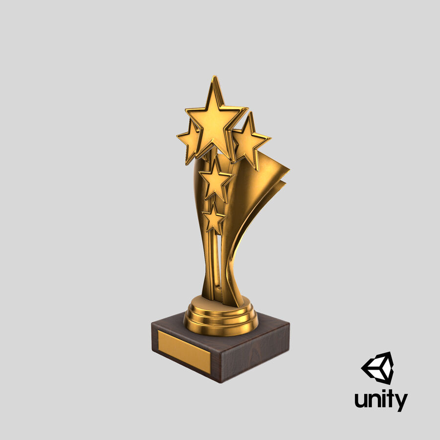 Troféu de ouro 5 royalty-free 3d model - Preview no. 18