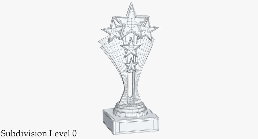Gold Trophy 5 royalty-free 3d model - Preview no. 9
