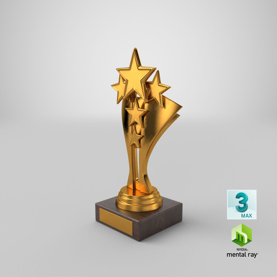 Gold Trophy 5 royalty-free 3d model - Preview no. 16