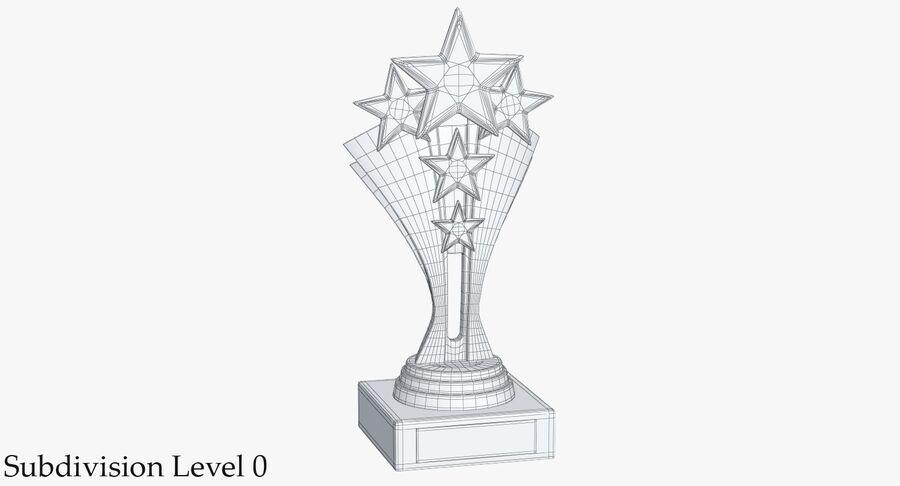Troféu de ouro 5 royalty-free 3d model - Preview no. 9