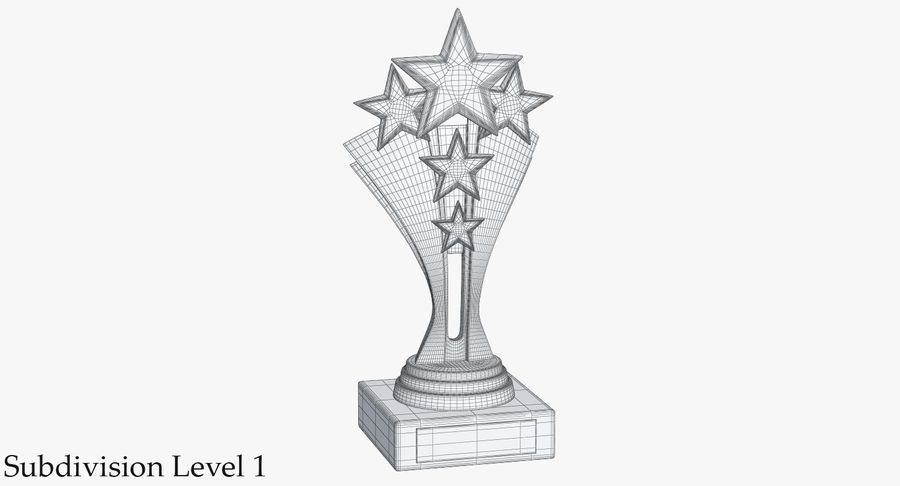 Gold Trophy 5 royalty-free 3d model - Preview no. 10