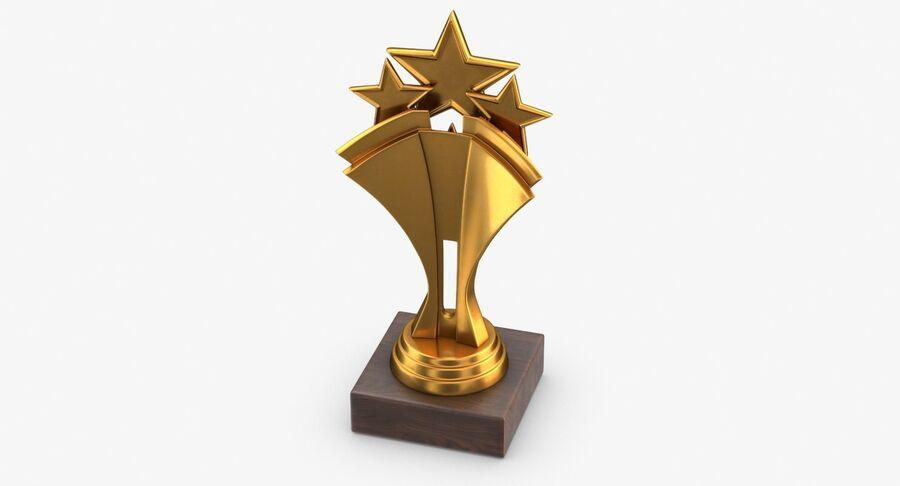 Troféu de ouro 5 royalty-free 3d model - Preview no. 5