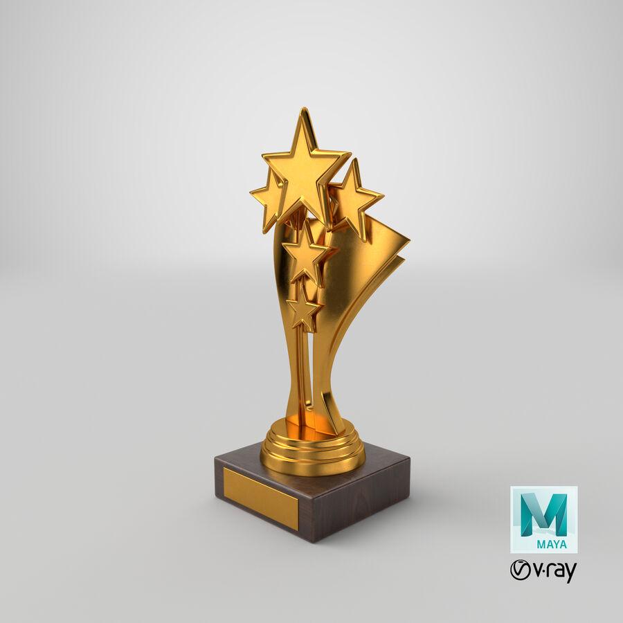 Troféu de ouro 5 royalty-free 3d model - Preview no. 13
