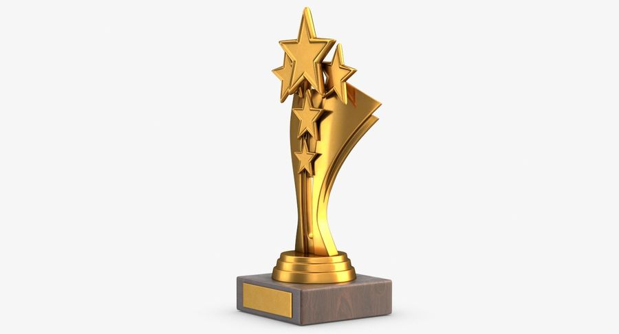 Gold Trophy 5 royalty-free 3d model - Preview no. 6
