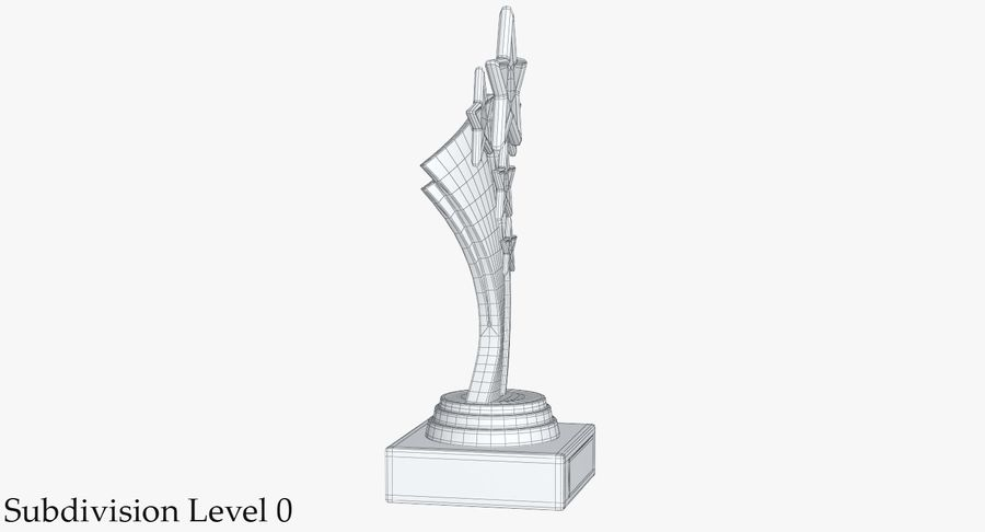 Gold Trophy 5 royalty-free 3d model - Preview no. 11
