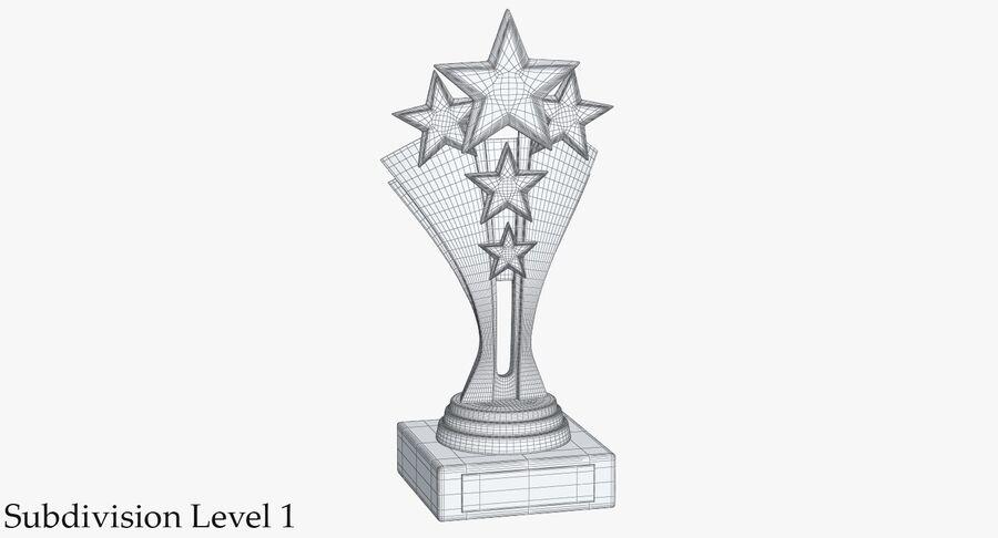 Troféu de ouro 5 royalty-free 3d model - Preview no. 10