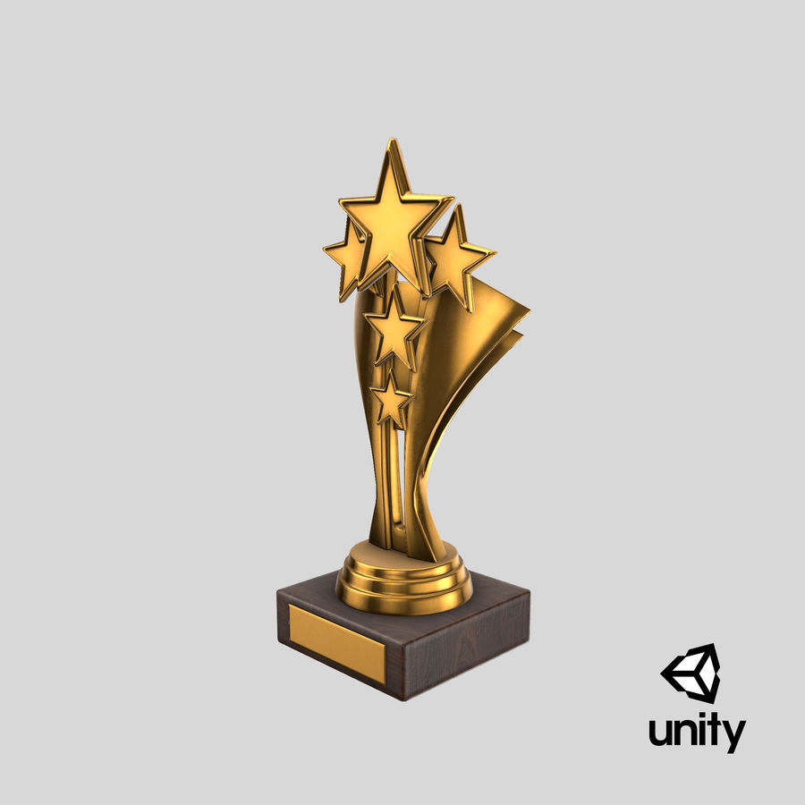 Gold Trophy 5 royalty-free 3d model - Preview no. 18