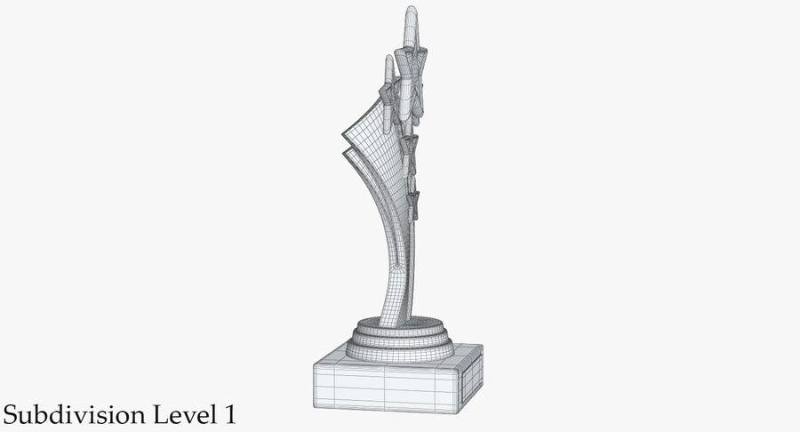 Troféu de ouro 5 royalty-free 3d model - Preview no. 12