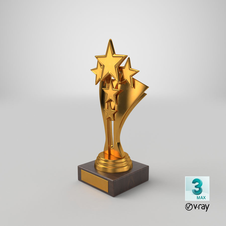 Gold Trophy 5 royalty-free 3d model - Preview no. 15