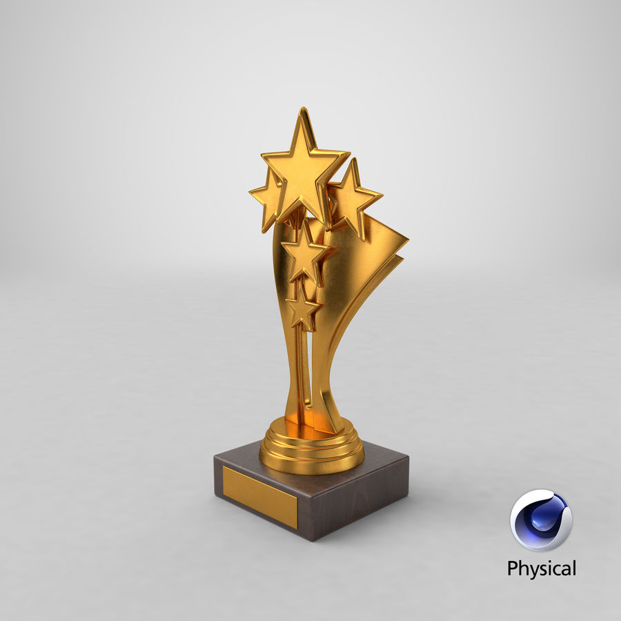 Gold Trophy 5 royalty-free 3d model - Preview no. 19