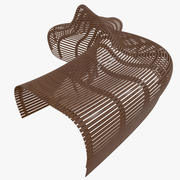Parametric Abstract Wood Bench Like MP 2 3d model