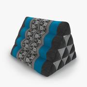 Thai Mattress Triangle Cushion Blue 01 3d model