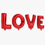 Foil Balloon Red Words Love 3d model