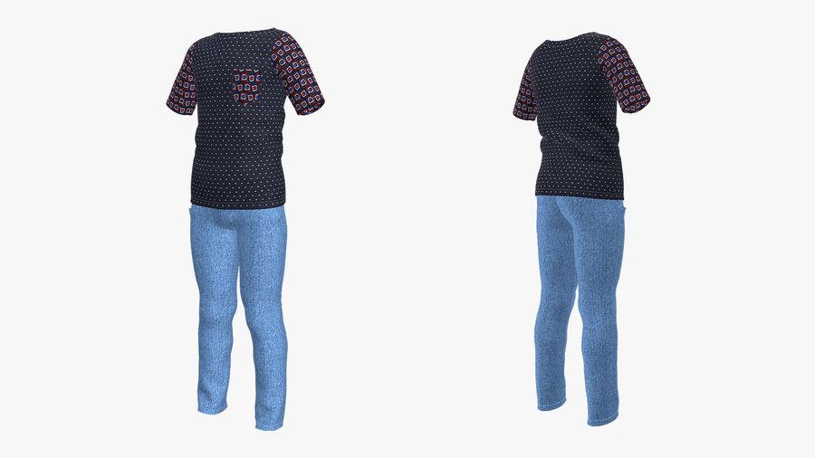barnkläder för pojkar royalty-free 3d model - Preview no. 2