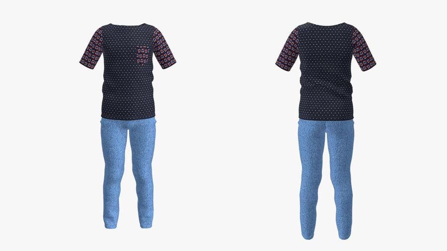 barnkläder för pojkar royalty-free 3d model - Preview no. 1