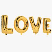 Balon foliowy Złote słowa Miłość 3d model