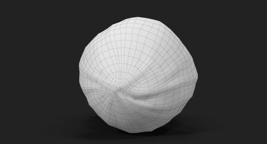 Peanut 2 royalty-free 3d model - Preview no. 35