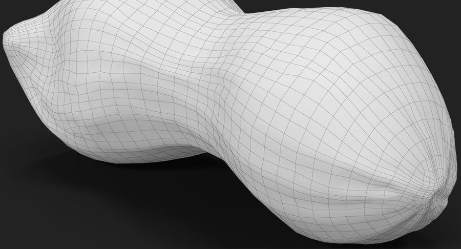 Peanut 2 royalty-free 3d model - Preview no. 29