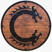 Viking Serpent Shield 3d model