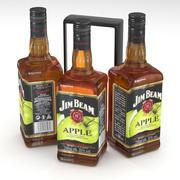 Jim Beam Apple Bourbon Whiskey Alcohol Bottle 700ml 2019 3d model