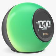 Radio reloj inalámbrico Bluetooth Phaze iHome iBT29 Modelo verde 3D modelo 3d