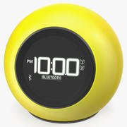 Wireless Alarm Clock FM Yellow 3D 모델 3d model