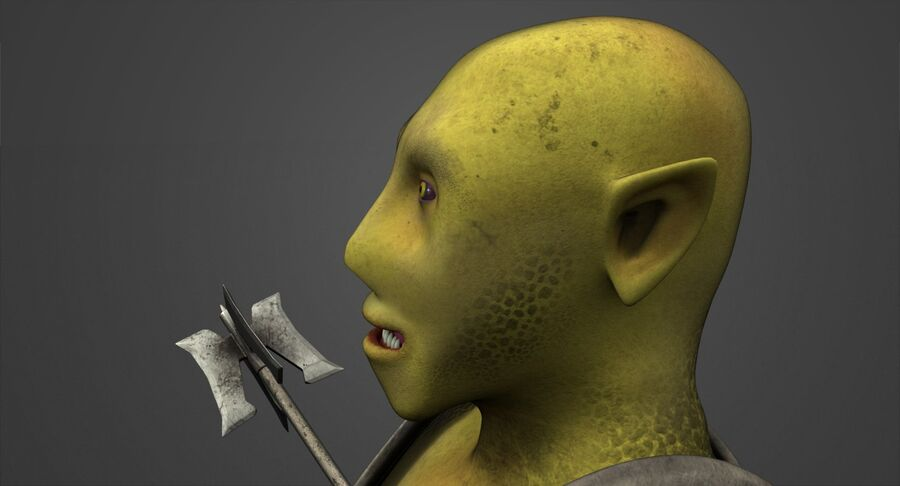 Armored Orc royalty-free 3d model - Preview no. 8