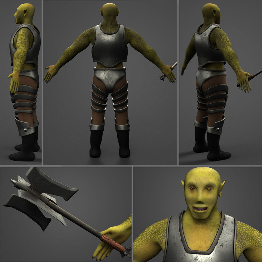 Armored Orc royalty-free 3d model - Preview no. 1