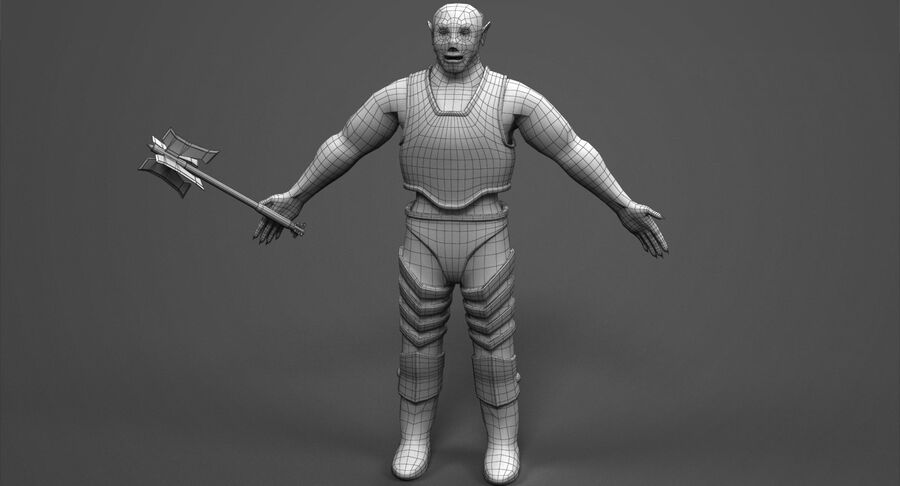 Armored Orc royalty-free 3d model - Preview no. 12