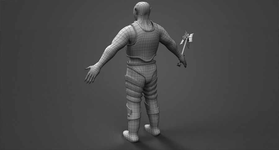 Armored Orc royalty-free 3d model - Preview no. 10