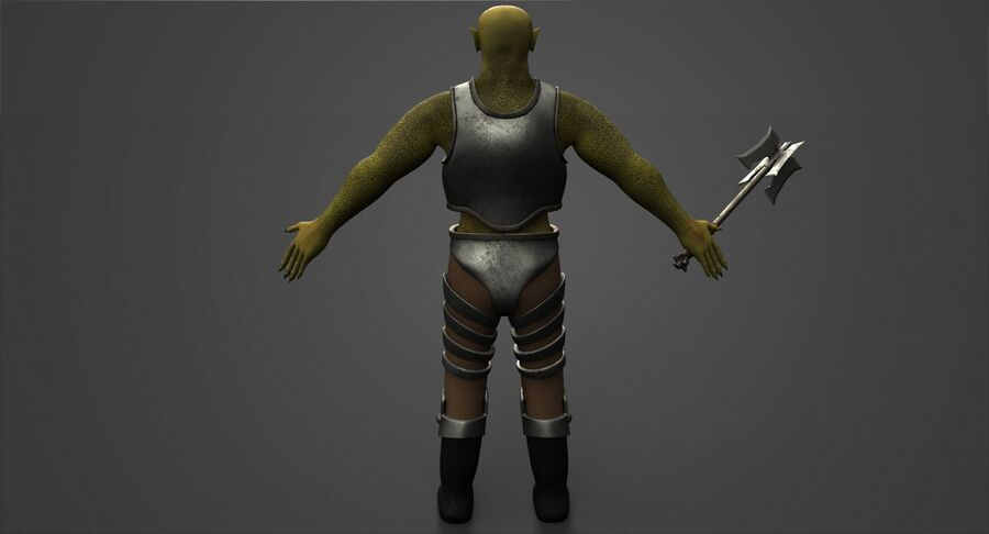 Armored Orc royalty-free 3d model - Preview no. 9
