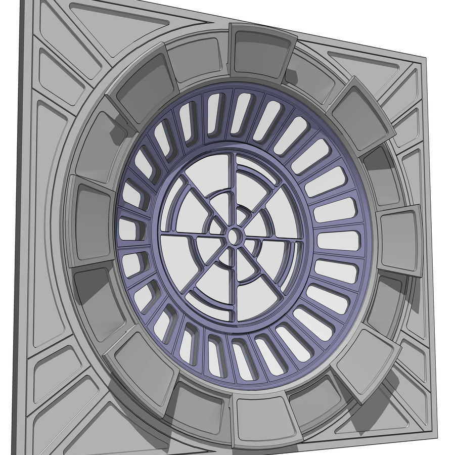 Throne Room Window royalty-free 3d model - Preview no. 1