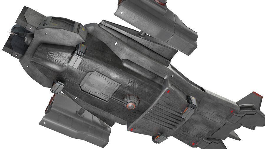 space ship royalty-free 3d model - Preview no. 9