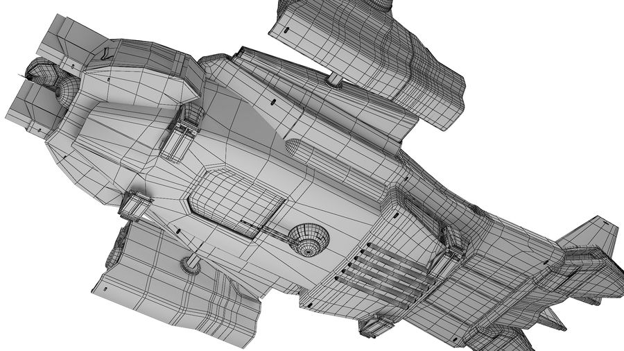 space ship royalty-free 3d model - Preview no. 10
