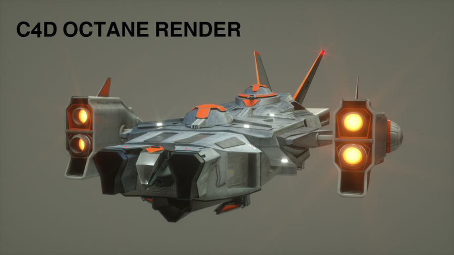 space ship royalty-free 3d model - Preview no. 24