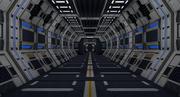 Sci Fi Интерьер 3d model