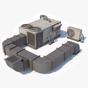 Rooftop AC Unit Low Poly 3d model