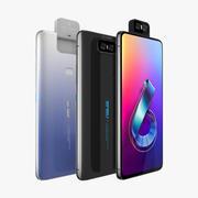 Asus Zenfone 6 ZS630KL alle Farben 3d model