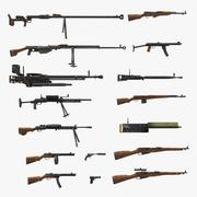 World War II USSR Guns Collection 3d model